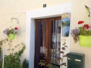 The front door of our B&B, Chambres d'Hotes du Lac Perdu