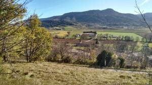 Looking across the valley, Campferrier just below